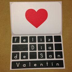 Tarjeta para San Valentín: Macbook