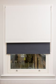 Double/dual blind arrangement of sunscreen and blackout roller blind to sash window for bedroom   Shepherds Bush/White City