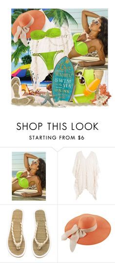 """Sweet Summer ~ At the Beach"" by pwhiteaurora ❤ liked on Polyvore featuring Eberjey and H&M"