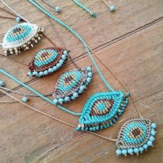 Frolic eyes! Macrame evil eye necklaces, Woven Greek evil eye