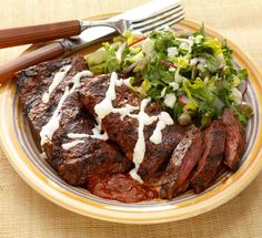 This skirt steak accompanied perfectly with a fiery red chilli sauce is a dish you won't forget!
