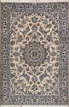"""Nain Persian Rug, Buy Handmade Nain Persian Rug 3' 7"""" x 5' 10"""", Authentic Persian Rug"""