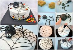 http://www.mycakeschool.com/blog/spiders-love-candy-how-to-make-a-spider-topper/