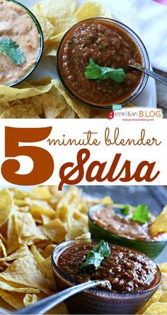 5 Minute Blender Salsa Recipe | TodaysCreativeBlog.net