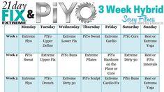 awesome 21 Day Fix Extreme PiYo Hybrid Workout Calendar Workout Meal Plan, Hip Workout, Workout Schedule, Workout Women, Workout Routines, Workout Ideas, Workout Challenge, 21 Day Fix Workouts, Extreme Workouts