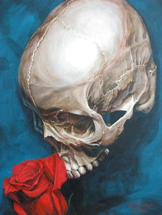 Skull and Rose 2 by Melissa Johnson