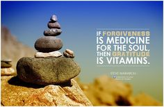 If forgiveness is medicine for the soul, then gratitude is vitamins. - Steve Maraboli