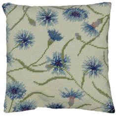 Cornflower Herb Pillow Tapestry kit - £37.99