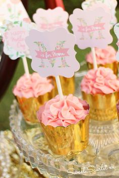 Pink and Gold Dessert Table for Mom