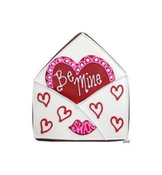 Envelope cutter decorated for Valentine's Day, https://www.profiletree.com/susan-schmitt #cookies, #cakes, #decoratedcakes, #weddingcakes, #food, #bake,