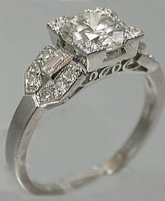 vintage art deco diamond ring - Google Search