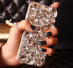 DIY Handmade Bling Crystal iPHONE 7 Plus Rhinestone Diamond Case For Samsung Galaxy Note 5 4 3 S7 S6 Edge For iPhone 6 6S 7 Plus iPhone SE Diamond Cases