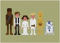 cross stitch patterns: star wars.  I don't know how to do cross stitch, but this makes me want to learn.