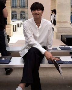 the Louis Vuitton SS18 Men's Fashion Show in Paris on June 22 2017