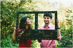 I love this DIY frame used as a prop for the #prewedding #photoshoot #Frugal2Fab