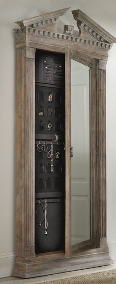 Reminiscent of an ancient Greek architectural design, the Georgetown Storage Mirror brings together classic design elements, grand scale and a relaxed rustic finish to create an impassioned marriage of casual opulence.
