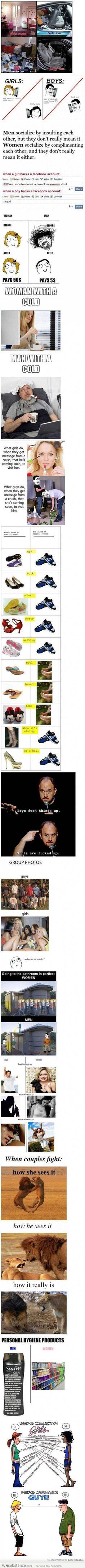 Guys vs girls. Lol