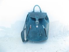 Leather backpack laptop bag10 COLOURS available genuine by EATHINI