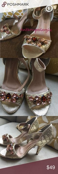 New - anthropologie shoes Just stunning and so elegant to wear to any specific occasions. European size 37 so fits like size 6-6.5 Anthropologie Shoes