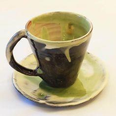Ceramic Espresso Cup and Saucer. Handmade Modern Espresso Cup, Coffee Lover, Coffee Mug, Ceramic Cup, Gift by ThomasMorleyCeramics on Etsy