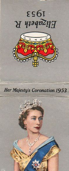 Beach vintage matchbook covers   ... Majesty's Coronation, 1953 Matchbook Cover - Store Item# BEACHGUY590