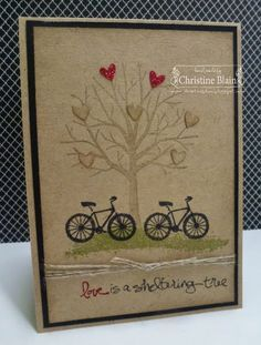 HAPPY HEART CARDS: STAMPIN' UP!'S SHELTERING TREE WEDDING CARD More