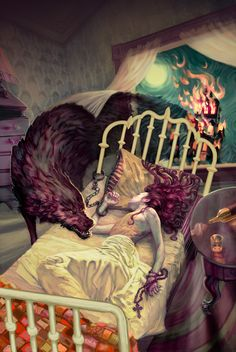 Fantastic Worlds, a series of superb illustrations by Rhode Island based illustrator/painter, Jon Foster. Jon has tons more wonderful illustrations which can be Art And Illustration, Magazine Illustration, Art Magique, Arte Sketchbook, Fantasy Kunst, Inspiration Art, Red Riding Hood, Art Design, Oeuvre D'art
