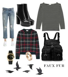 """Ideal"" by shishakova on Polyvore featuring Levi's, Alexander Wang, Yves Saint Laurent, Prada, Cartier, Rolex and Jayson Home"
