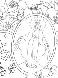 Miraculous Medal Coloring Page