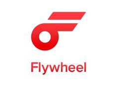 flywheel logo, power icon!   brandmedia