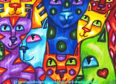 Cats Collage Abstract art