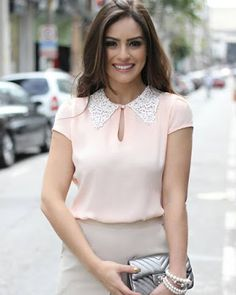 Blusa rosa blusas fashion outfits, blouse designs e fashion. Mode Outfits, Fashion Outfits, Womens Fashion, Blouse Styles, Blouse Designs, Look Fashion, Work Wear, What To Wear, Skinny