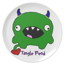 Tangle Fiend Monster Kids Plate