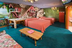 need to go here and stay in one of these cool rooms story books, san luis obispo, madonna inn, california, themed rooms, travel, place, guest rooms, mill room