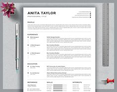Resume template instant download Word Teacher Resume and Cover Letter Template Modern Resume Template Word Resume Design 2 Page Executive Resume with photo.  If you want to get hired for a job position, you must make a creative and impressive resume template instant download. Creating one isnt an Teaching Resume Examples, Sales Resume Examples, Resume Objective Examples, Hr Resume, Nursing Resume, Resume Help, Resume Tips, Resume Action Words, Resume Words