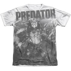 PREDATOR/IN THE JUNGLE-ADULT POLY/COTTON S/S TEE-WHITE