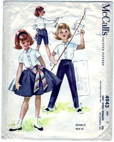 McCall's 4943, Skirt & Sash