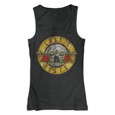 Hihaton Guns N' Roses -toppi, tiukat revityt farkut sekä bootsit, niistä on rokkaava kasarilook tehty!