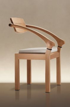 Wooden Chair with Armrests SPRING by Massimo Scolari GIORGETTI #Chair #Furniture #YankoDesign