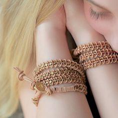 Leather Wrap Bracelet Tutorial by www.lebenslustiger.com