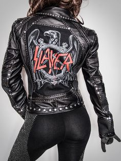 DONT SEE YOU SIZE? ASK FOR CUSTOM ORDER!      Slayer biker jacket.    High quality, hand made in only 1 copy. Absolutely original. Made of