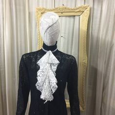 Victorian lace collar Jabot drape Elegant Gothic Lolita  Steampunk Cream lace cosplay Geechlark 5079 by Geechlark on Etsy #steampunk #tailcoat #victorian #costume #reenactment #etsyusa #etsyfinds #etsylove  #accessories  #etsyshopowner #etsyseller #geechlark #jabot #lacecollar