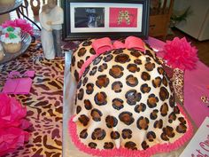 Leopard & Pink themed baby shower! :)