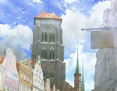 """Check out new work on my @Behance portfolio: """"Gdansk in plein-air watercolors""""…"""