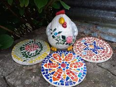 Stepping Stones, Garden Ideas, Mosaic, Outdoor Decor, Home Decor, Stair Risers, Decoration Home, Room Decor, Mosaics