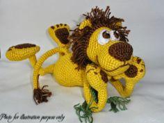 Amigurumi Crochet Pattern Leon the Lion por IlDikko en Etsy Lion Crochet, Chat Crochet, Crochet Gratis, Crochet Patterns Amigurumi, Amigurumi Doll, Crochet Dolls, Free Crochet, Knitted Animals, Crochet Projects