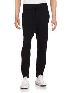 HELMUT LANG Solid Cashmere Blend Jogger Pants. #helmutlang #cloth #pants