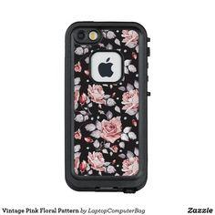 Vintage Pink Floral Pattern LifeProof FRĒ iPhone SE/5/5s Case