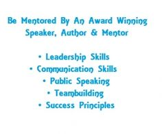 Be Mentored By An Award Winning Speaker, Author and Mentor  He is an award winning #speaker, author and #mentor. Executives, entrepreneurs and #celebrities have used his programs and they have turned their Number #1 #fear into their number one asset. Across the business spectrum, his clients have sold more products, converted more prospects into raving #fans, and they have raised the awareness of #causes and #charities across America.   #publicspeaking #speech