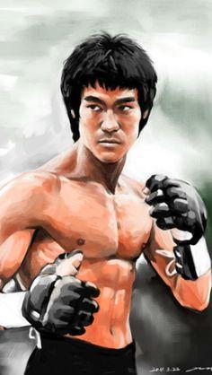 Bruce in gloves.